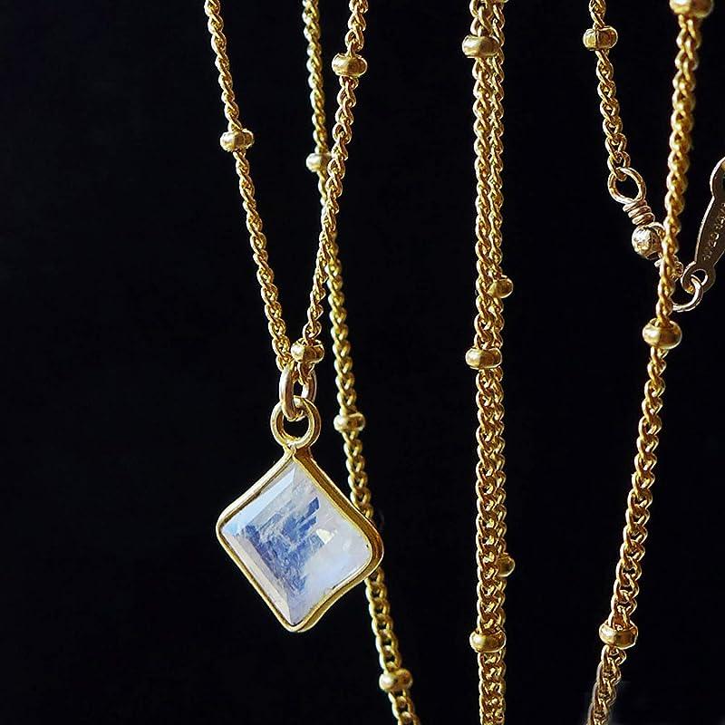 Pave Diamond Pendant Oxidized 925 Silver Charm Pendant Victorian Real Diamond Pendant Necklace O766 Blue Pear Rainbow Moonstone Pendant