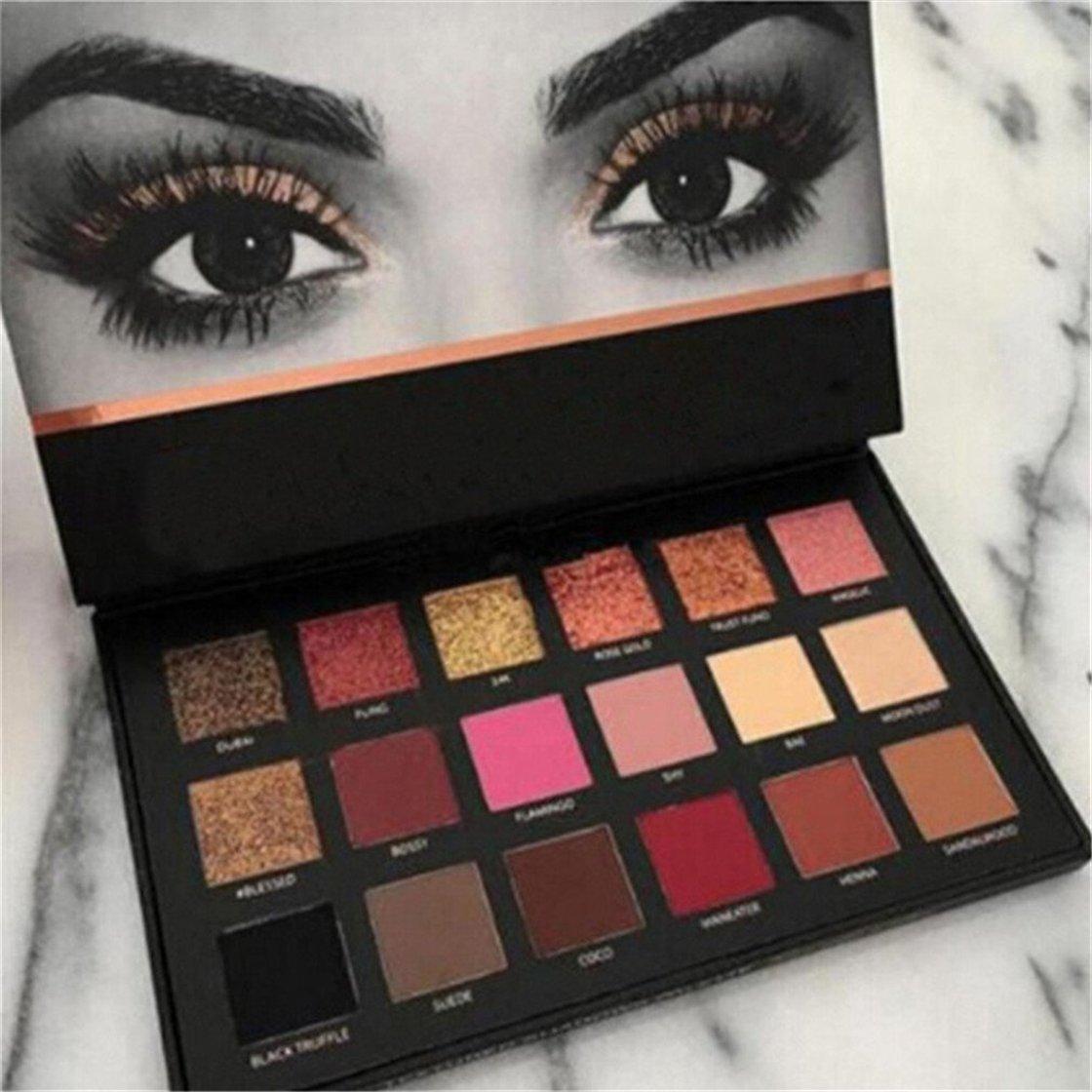 ZabrilA 18 Colors Beauty Rose Gold Eyeshadow Matt Makeup Eyeshadow Palette Cosmetics