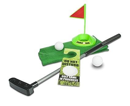 Cartello Da Appendere In Bagno : Mostromania set da golf per wc kit per giocare a golf in bagno