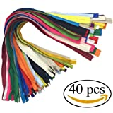 Mmei 40 pcs Nylon Invisible Zippers for Tailor Sewer Sewing Craft Crafter's Special 20 Inch 20 Colors (2 pcs per color)
