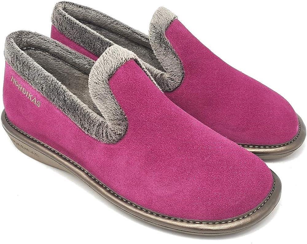 Nordikas Nicola 305 Womens Ladies Black Indoor Outdoor Sole Slippers Size 4-9