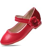 EIGHT KM Girls Mary Jane Low Heel Court Shoes