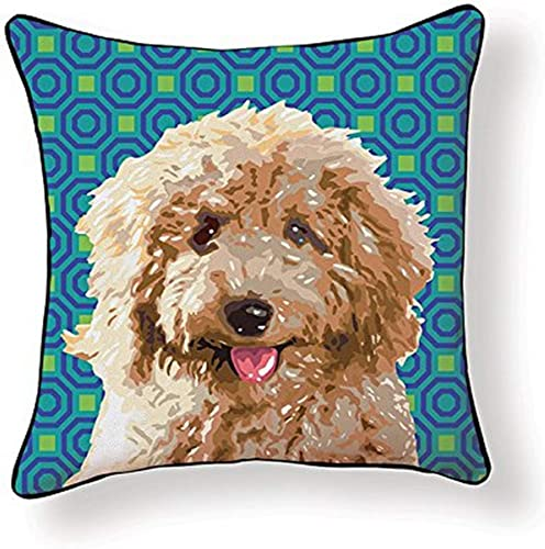 Naked Decor Pooch D cor Labradoodle Pillow, Multicolored, Multi
