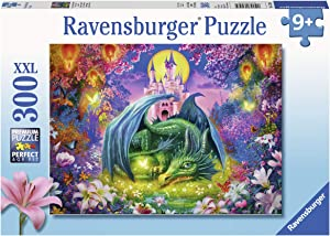 """Ravensburger 13258 Forest Dragon, 300 Piece Puzzle for Kids, Every Piece is Unique, Pieces Fit Together Perfectly, Multicolor, 19.5"""" x 14.25"""""""