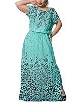 Venetia Morton V-neck Patchwork Black Vintage Sleeveless Stretchy Long Dress