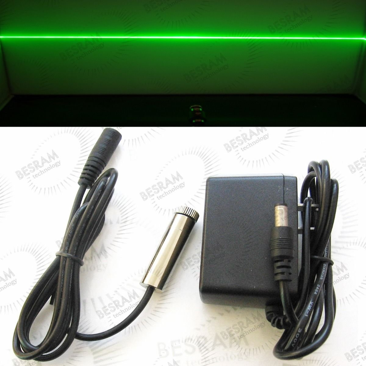 Focusable 120mw 520nm Green Laser LINE Diode Module w Adapter 12x45mm Osram LD
