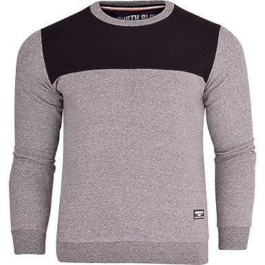 6198007e9696 North Play Mens Designer Crew Neck Sweatshirt Panel Jumper Smart Casual Top  XX Large Light Grey  Amazon.co.uk  Clothing