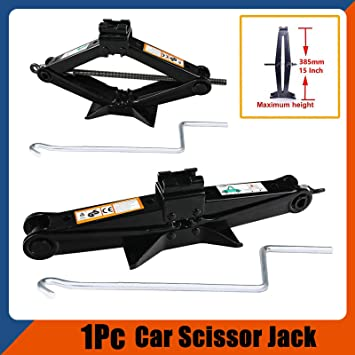 New 2 Ton Tone Scissor Heavy Duty Wind Up Jack For Car Van Crank Speed Handle New