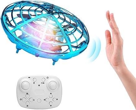 Opinión sobre ShinePick Mini Drone con Control Remoto, Recargable UFO Drone Movimiento Control Mano Drones Juguetes Voladores con Luz LED Beginner RC Helicóptero Regalos para Niños y Adultos