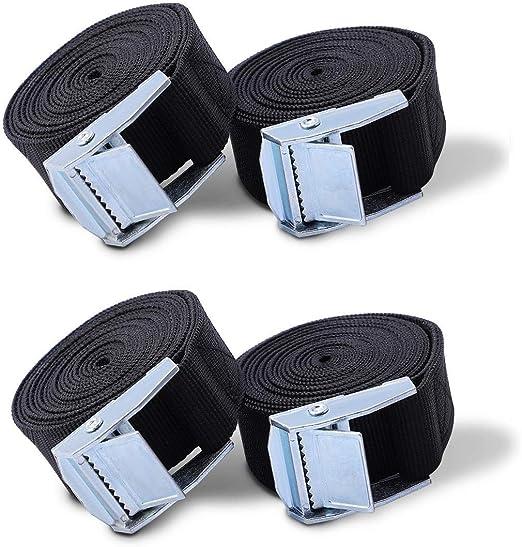 Durable Belt Tie Down Strap Metal Buckle Pack Cam Cargo Lash Luggage 5m