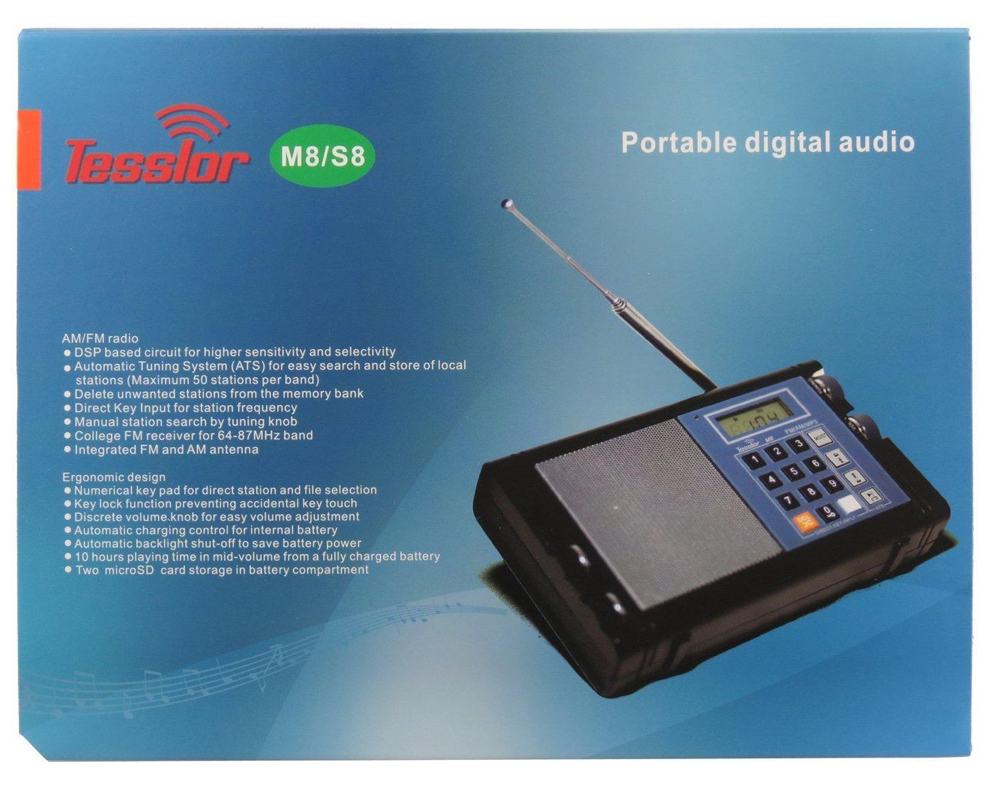 Amazon.com: Meloson M8 Rechargeable AM/FM DSP (Digital Signal ...