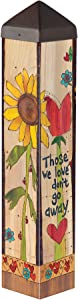 Studio M with Us Everyday Art Pole Outdoor Decorative Garden Post, Made in USA, 20 Inches Tall