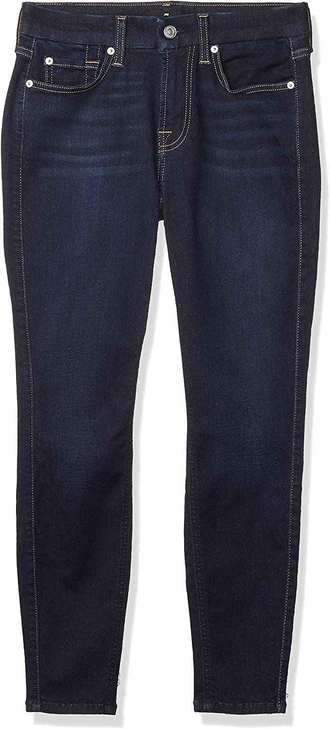 7 For All Mankind Women S Mid Rise Skinny Fit Ankle Jeans At Amazon Women S Jeans Store