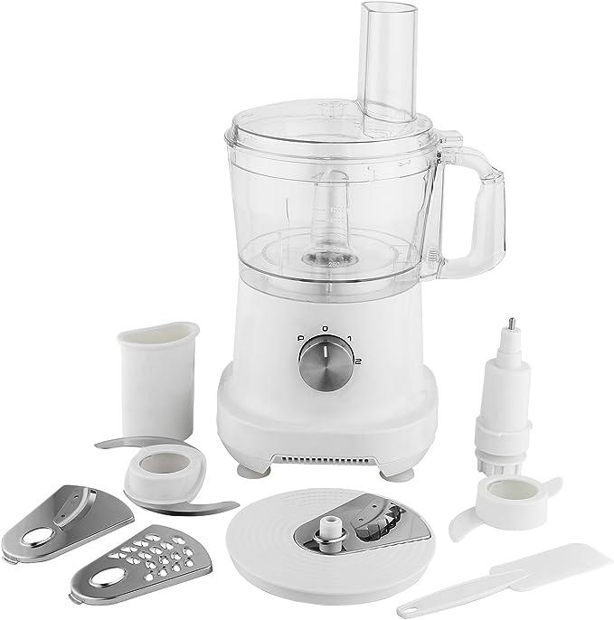Multi – Trituradora eléctrico (500 W, picadora Cocina universalzerkleinerer con 1,2L Depósito | Robot de cocina para verduras, fruta, carne, etc. (Color Blanco): Amazon.es: Hogar