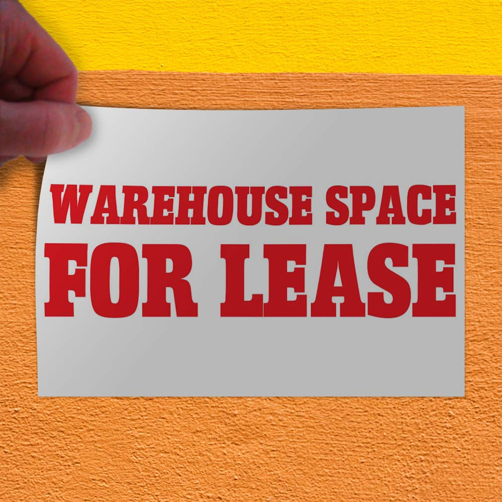 Decal Sticker Multiple Sizes Warehouse Space for Lease Business Business Warehouse Space for Lease Outdoor Store Sign White 30inx20in Set of 5