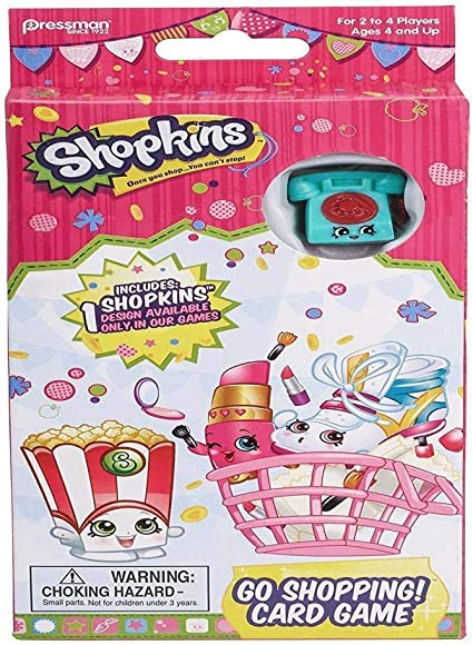 Amazon Com Shopkins Go Shopping Card Game With Exclusive Shopkins Figure Toys Games