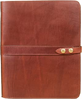 product image for Full-Grain Leather No. 36 Double Portfolio/Padfolio | Made in USA | Col. Littleton