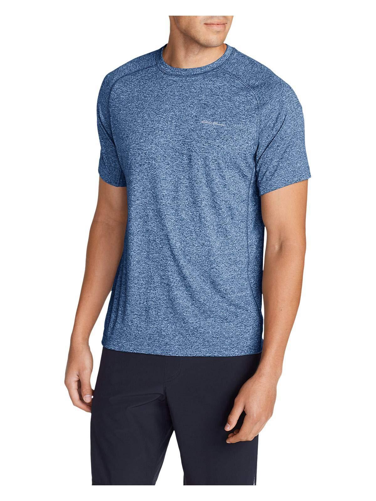 Eddie Bauer Men's Resolution Short-Sleeve T-Shirt, HTR Blue Regular S