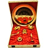 Jaipur Ace Gold Plated Pooja thali Set of 7 pcs