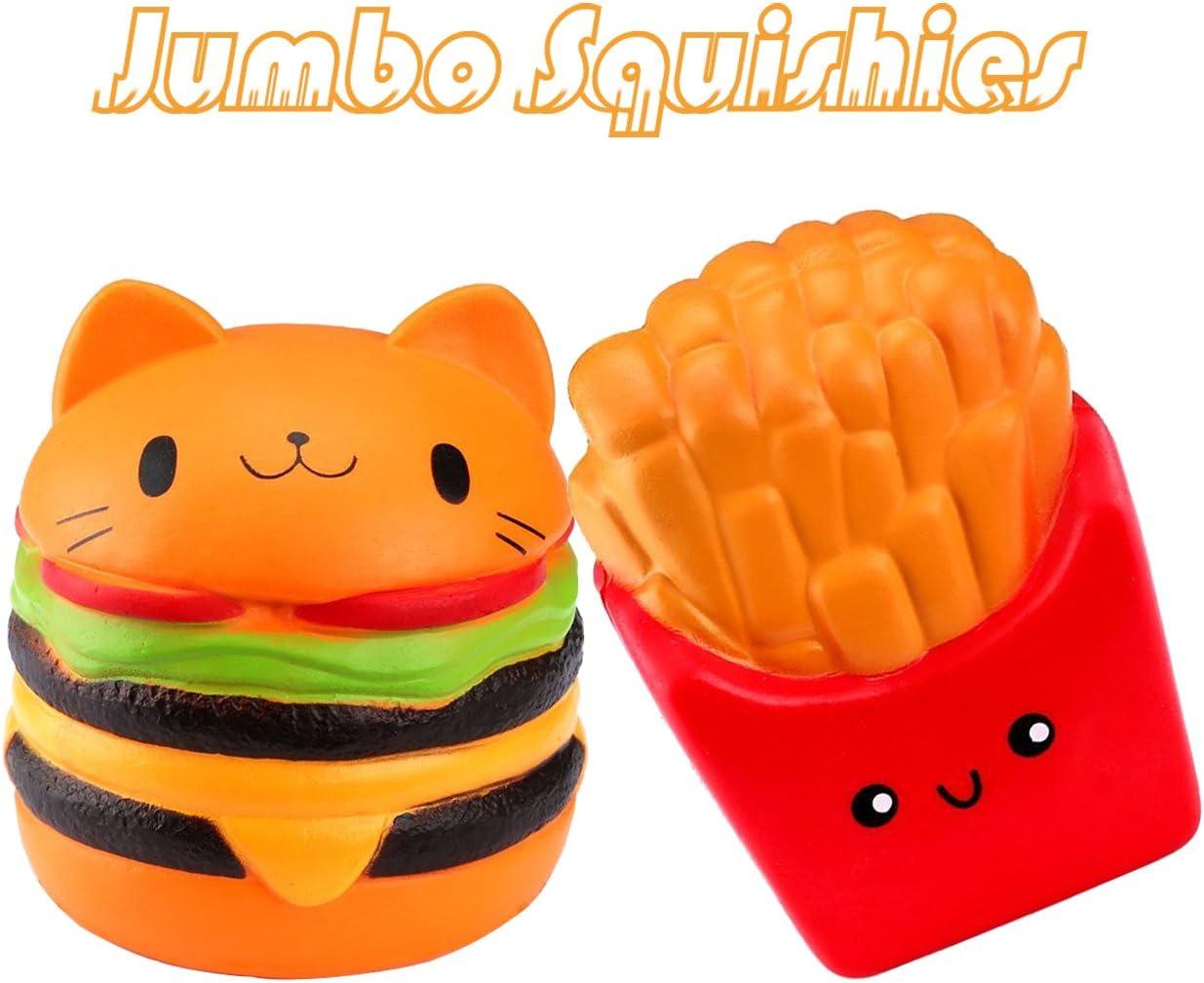 Jumbo squishies Pack 2 Unidades Jumbo – (Cat Hamburguesas+ Papas ...