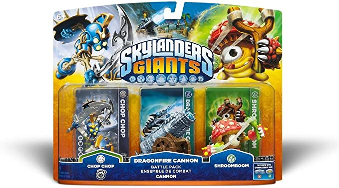 Skylanders: Giants - Pack Battle: Chop Chop + Shroomboom + Cannon Piece: Amazon.es: Videojuegos