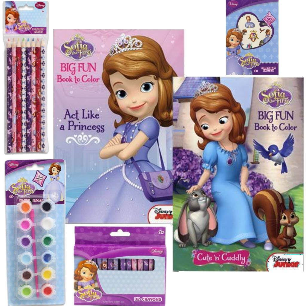 Princess coloring set - Amazon Com Disney Jr Sofia The First Ultimate Coloring Book Value Art Gift Set For Kids 5 Piece Princess Sofia The First Coloring Book And Art Supply