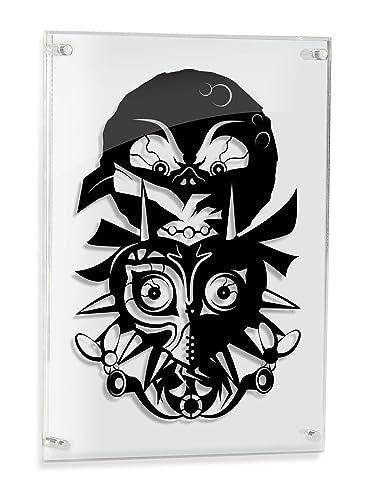 Legend of Zelda Majora s Mask – FRAMED hand cut paper art