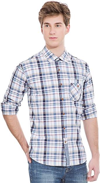 Springfield - Camisa Casual - Manga Larga - para Hombre añil XX-Large: Amazon.es: Ropa y accesorios