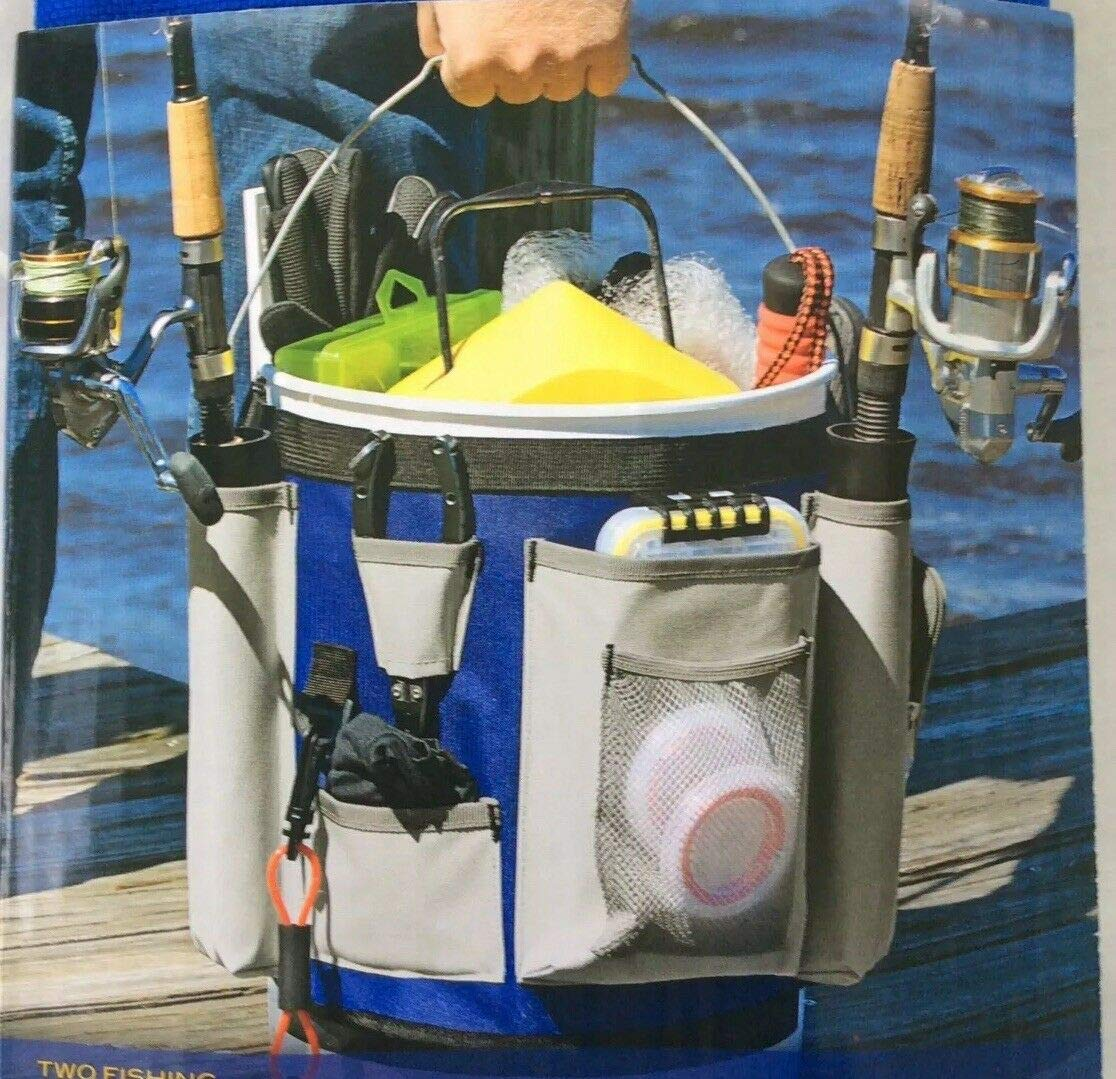 Charter Marine 5 Gallon Bucket Bag Includes 2 Fishing Rod Holders & Gear Storage # CM50009