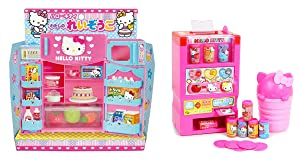 Hello Kitty 2 Unique Sets – Refrigerator with Microwave and Vending Machine Sold Together (Japan Import)