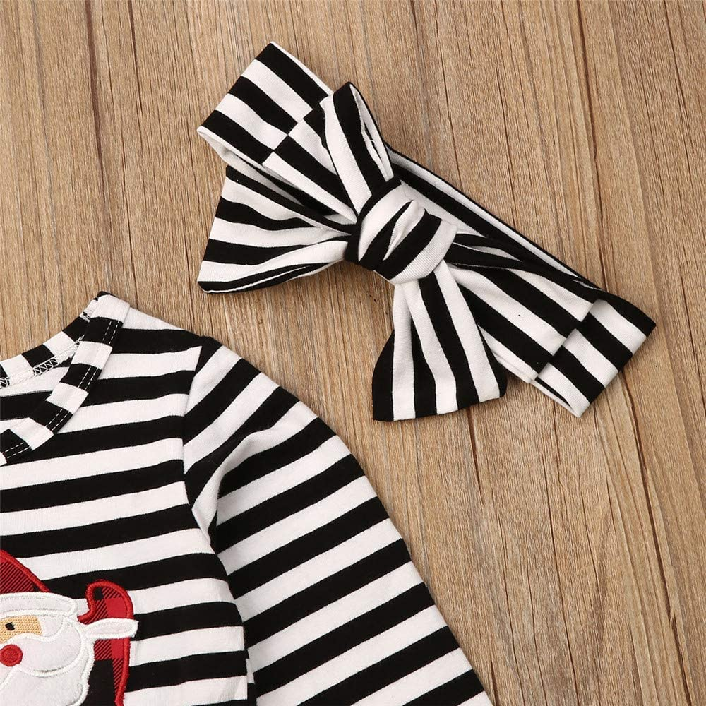 Toddler Baby Girl Floral Ruffle Long-Sleeve Dress Outfits Fall Clothes with Headband