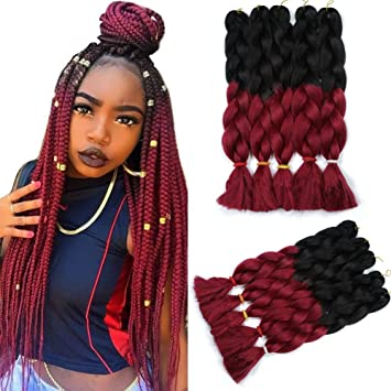 165g Pc Two Tone Ombre Jumbo Braid Hair Extensions 5pcs Lot 32inch Synthetic Kanekalon
