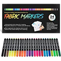 Fabric Markers Permanent for T Shirts Baby Clothes Onesies Bibs White Pillow Tote Canvas Bags Clothing - No Bleed - Fine…