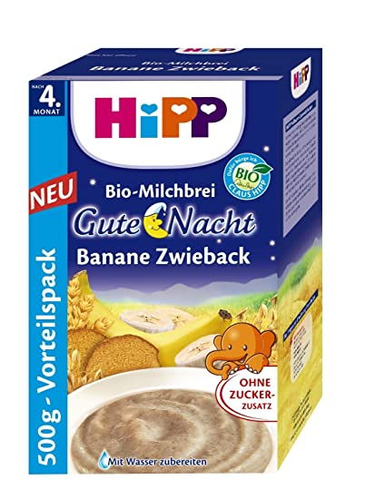 Hipp buenas noches puré de plátano galletas 500 g, 5-pack (5 x
