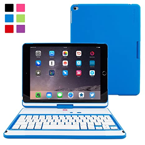 amazon com snugg ipad air 2 keyboard, [blue] wireless bluetoothimage unavailable image not available for color snugg ipad air 2 keyboard, [blue] wireless bluetooth keyboard case cover