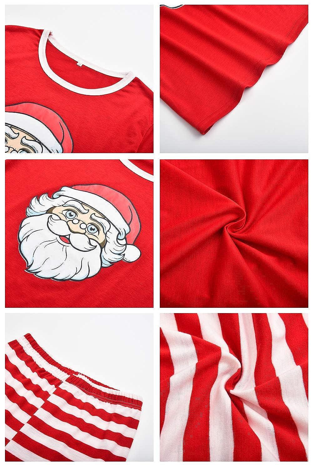 Pantaloni Set Costume di Natale Camicie da Notte Invernali URMOSTIN Pigiama Famiglia Natale Pigiami Due Pezzi Due Pezzi Donna Uomo Bambini Cotone Camicie Manica Lunga