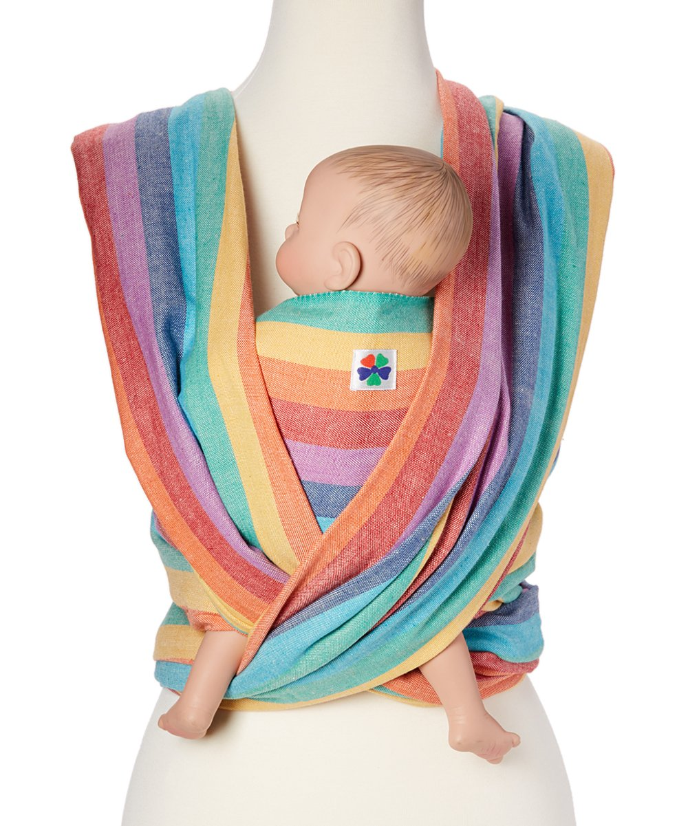 Hip Baby Wrap Baby Carriers, Summer Rainbow, Size 6 X001516FZ3