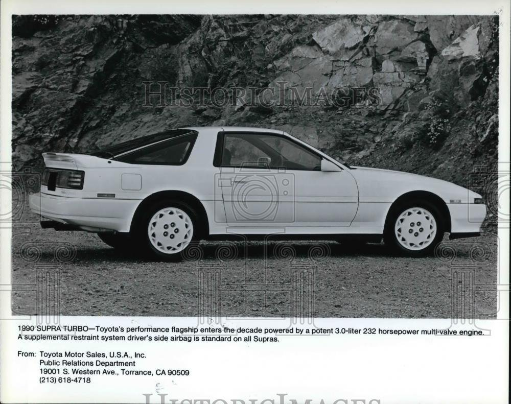 Amazon.com: Vintage Photos 1991 Press Photo The Toyota Supra Turbo, Toyotas performance flagship: Photographs