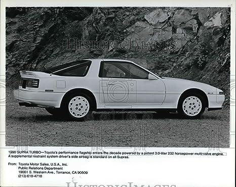Vintage Photos 1991 Prensa fotos el Toyota Supra Turbo, Toyota de rendimiento insignia