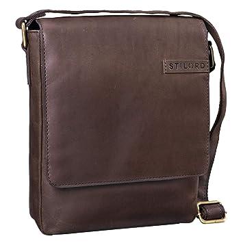 626e8d5e23 STILORD  Dario  Shoulder Bag Leather Men Small Vintage Messenger Bag for  iPad 9