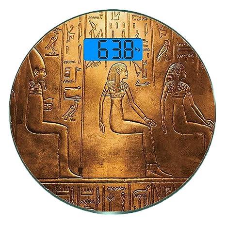Escala digital de peso corporal de precisión Ronda egipcio Báscula ...