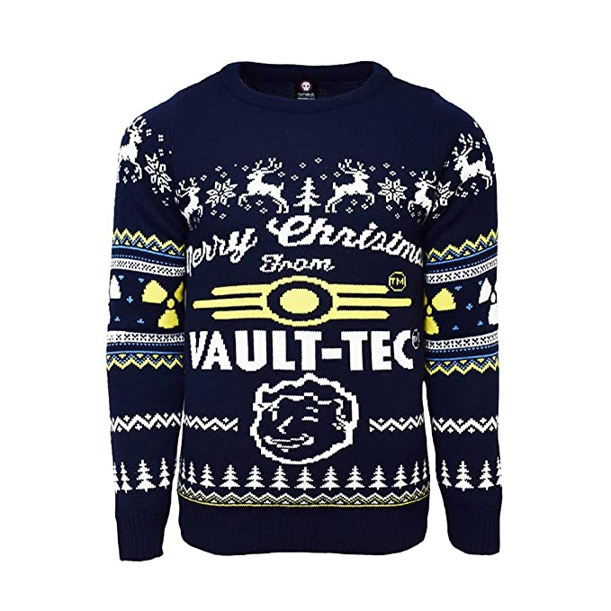 Vault Tec Christmas Sweater.Fallout Official 4 Vault Tec Christmas Jumper Ugly Sweater