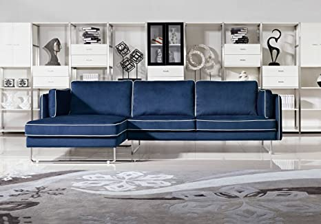 Amazon.com: Divani Casa Anchusa Modern Fabric Sectional Sofa ...