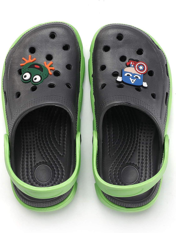 COOJOY Kids Clogs Cartoon Slide Sandals Garden Slipper Beach Pool Shower Shoes Mules