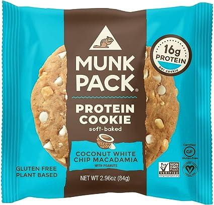 Munk Pack - Galleta De Proteínas De Cocido Suave Coco Blanco Chip Macadamia - 2.96 oz.