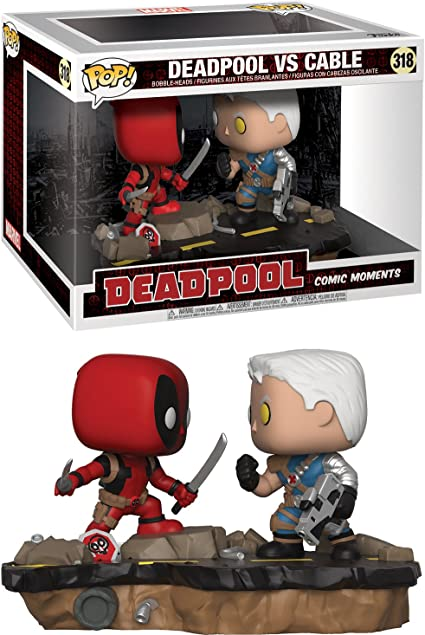 Deadpool Vinyl Deadpool vs Cable Comic Moments Pop FunKo Free Shipping!