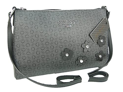 9f827fa6abf3 New Guess G Logo Purse Cross Body Shoulder Hand Bag Black Coal Society   Amazon.ca  Shoes   Handbags