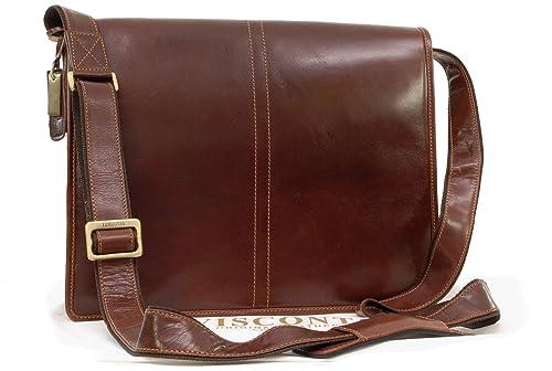 c62b9758415 Visconti Vegetable Tanned Leather Messenger Bag A4 - Workplace - VT7 - Aldo