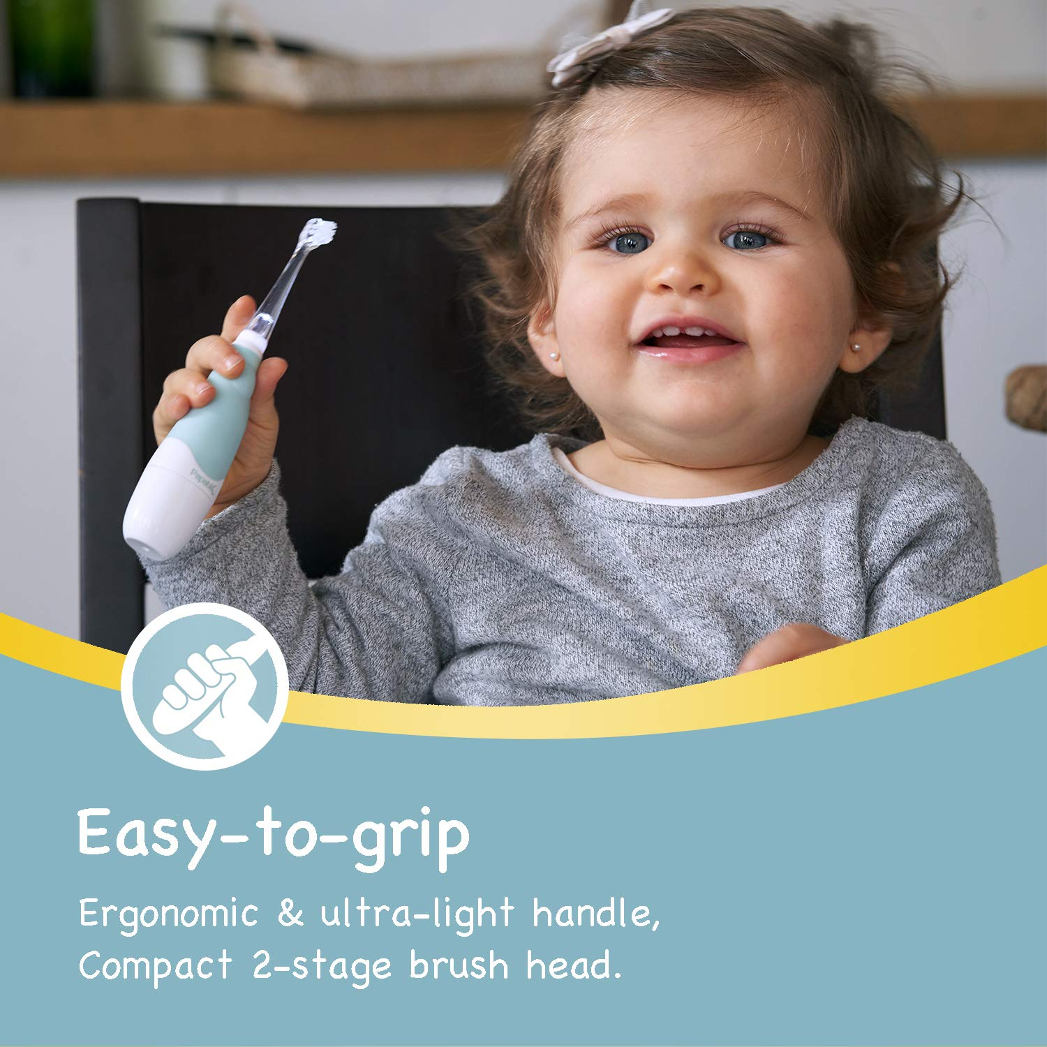 Papablic BabyHandy 2-Stage Sonic Electric Toothbrush for Babies and Toddlers Ages 0-3 Years by Papablic (Image #5)