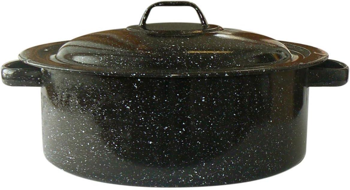 Granite Ware Covered Casserole, 3-Quart, Black